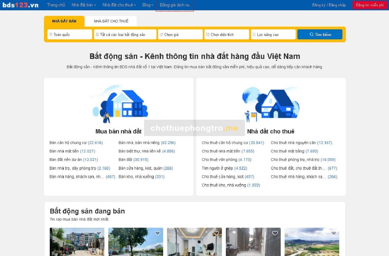Bất Động Sản - BDS - Kênh đăng tin bất động sản miễn phí