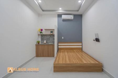 Phòng trọ mới xây 100% nội thất gỗ vừa đầy đủ vừa sang chảnh, 25m2