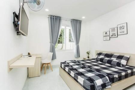 Phòng trọ cho thuê full nội thất ban công, gần Vạn Hạnh Mall, phòng rộng rãi thoáng mát, 30m2