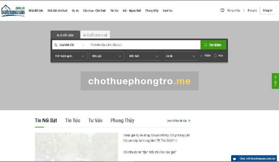 Website batdongsan.com.vn