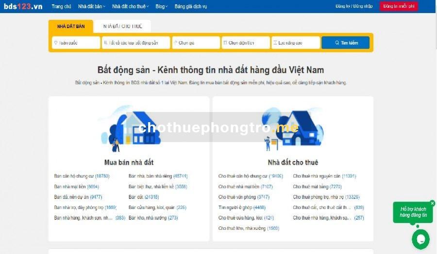 Website bds123.vn
