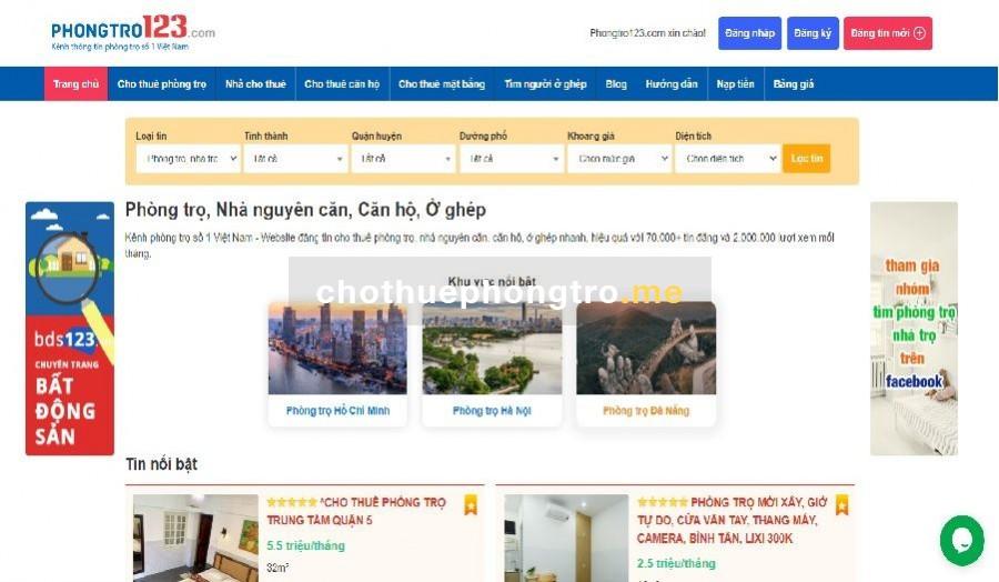 Website phongtro123.com