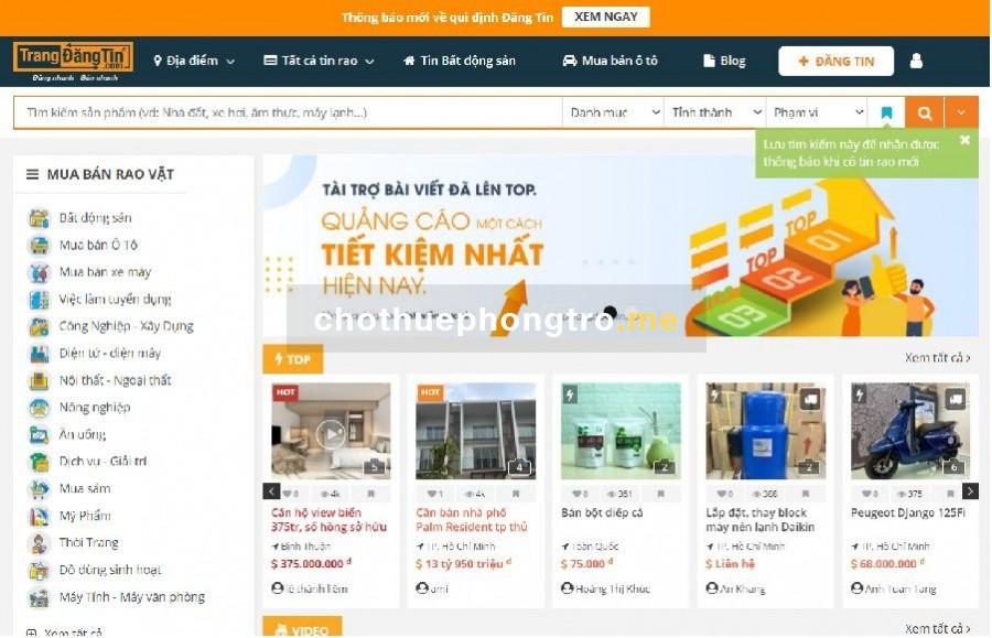 Website trangdangtin.com